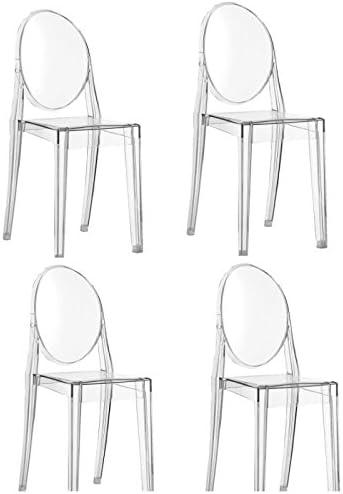 Kartell 4 X Victoria Ghost Transparent Stapelstuhl Von Philippe Starck Zum Set Preis 4856 B4 Amazon De Kuche Haushalt