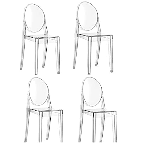 Kartell Offerta 4 sedie Victoria Ghost trasparenti: Amazon.it: Casa ...