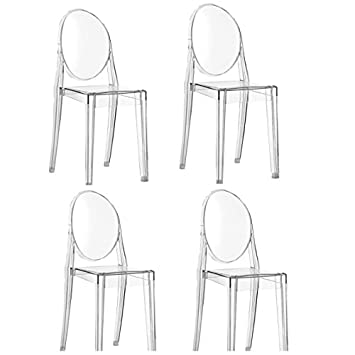 Offerta 4 sedie VICTORIA GHOST Kartell trasparenti: Amazon.it ...