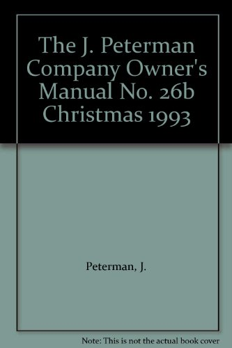 The J. Peterman Company Owner's Manual No. 26b Christmas for sale  Delivered anywhere in USA