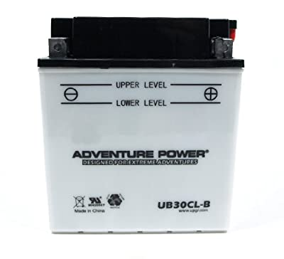 UPG Flooded Cell Motorcycle Battery - 12V, 6.5 Amps, Model# UB30CL-B