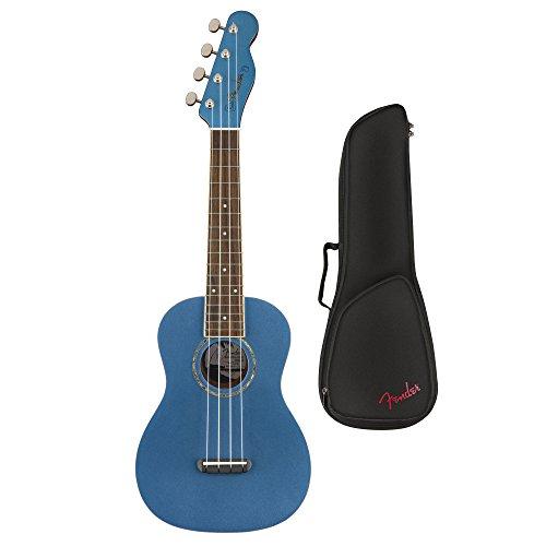 Fender Zuma Classic Concert Ukulele, Lake Placid Blue (with Gig Bag)