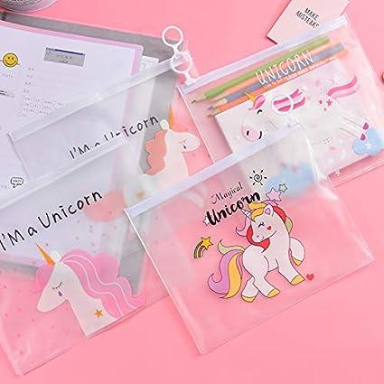 5 bolsas de plástico transparente con diseño de unicornio ...