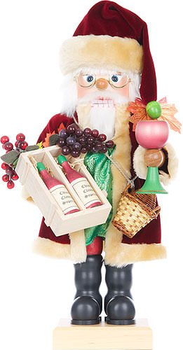 German Christmas Nutcracker Vine Santa limited edition - 46cm / 18 inch - Christian Ulbricht by Authentic German Erzgebirge Handcraft