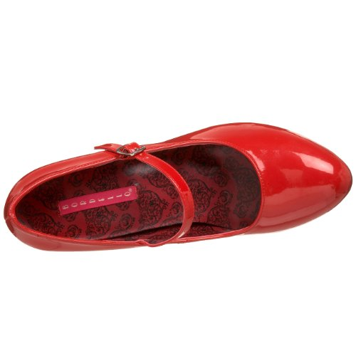Bordello TEMPT-35 Red Pat Size UK 8 EU 41