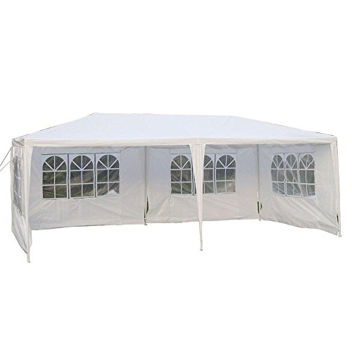 MCombo White Canopy Party Outdoor Wedding Tent Canopy Removable Walls (10x20Ft-4PC) by MCombo