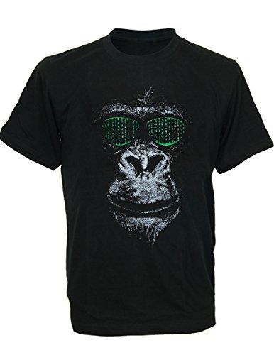 SODAtees cool future CHIMP MONKEY APE SHADES sunglasses Men's T-Shirt - Black - - Glasses Tumblr Hipster