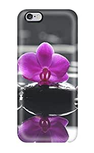 Hot New Orchids On Stone Case Cover For Iphone 6 Plus With Perfect Design