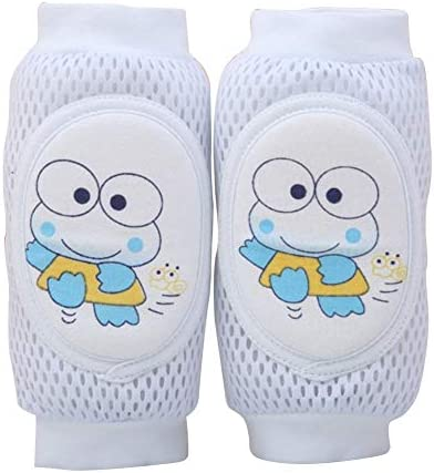 FairOnly Children Knee Pads Baby Breathable Mesh Sponge Crawling Shatter-Resistant Elbow Protective Gear Blue 0-6 Years Old