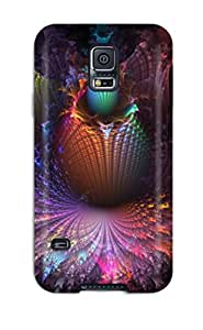 BreJasmll Galaxy S5 Hybrid Tpu Case Cover Silicon Bumper Abstract Fractal