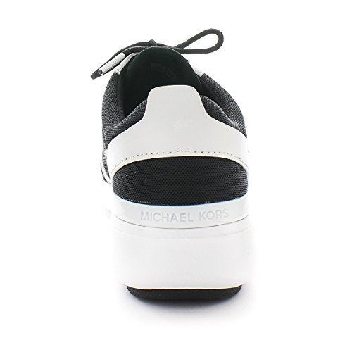 Michael Kors Sneaker Amanda Trainer Black Optic White Small Air Mesh 9.5 US