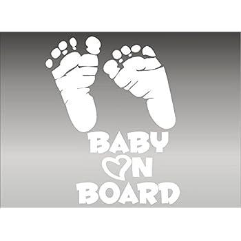 Amazon Com Baby On Board Feet Footprint Vehicle Decal