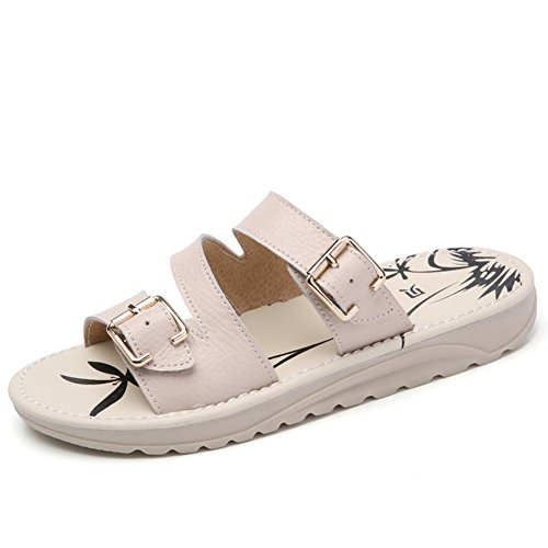 Verano zapatos flat-bottom/Zapatillas de cuero de uso extranjero A