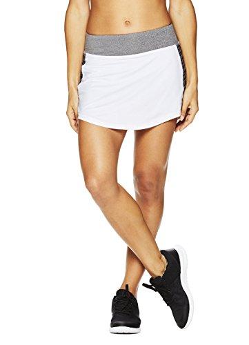 Penn Women's Solid Rocket Mesh Athletic Performance Tennis & Golf Skort - Rocket Stark White, Large -