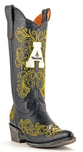 Appalachian Brass NCAA Women's Gameday Mountaineers State Boots inch 13 4wqwd8