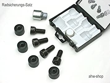 Originales de VW radsicherungsschrauben tornillos diebstahlhemmung 5q0698137 nuevo
