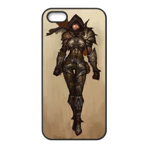 C0P87 Diablo III N6P4JG coque iPhone 5 5s cellulaire cas de téléphone couvercle coque noire KN6WIW4YC