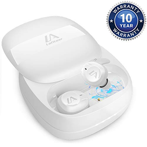 Lafitear Wireless Earbuds   Comfortable Bluetooth Earbuds   True Wireless Earbuds with Charging Case   Sport Bluetooth Earbuds   Multi-Size Wireless Earbuds  Bluetooth Earphones - One Touch Pairing