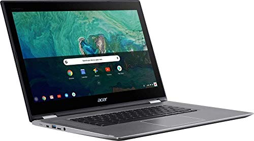 """Acer - Spin 15 2-in-1 15.6"""" Touch-Screen Chromebook - Intel Pentium - 4GB Memory - 64GB Solid State Drive - Sparkly Silver"""