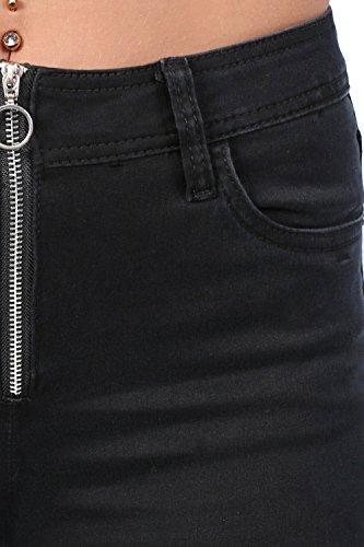 exposs zip PILOT plaine jeans Noir skinny wF8pI8q