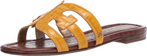 Sam Edelman Women's Bay Dijon Yellow Kenya Croco 9 M US