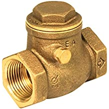 Everflow 210T012-NL 1/2-Inch Lead Free Brass Swing Check Valve with Female NPT Threaded, 200 PSI WOG & 125 PSI SWP Brass Construction Higher Corrosion Resistance Economical Durable & Easy to Install