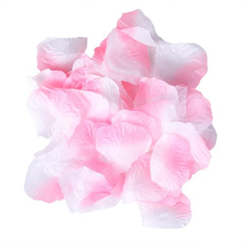 White pink silk rose flower petals bulk pack 1000 pcs mightylinksfo