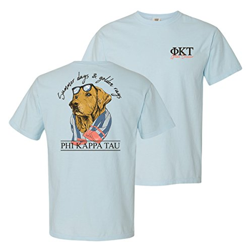 Phi Kappa Tau Fraternity - Phi Kappa Tau Blue Comfort Colors Retriever Tee