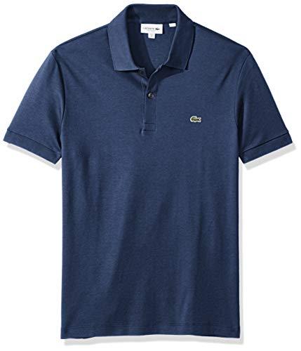 Lacoste Men's Short Sleeve Pima Jersey Interlock Regular Fit Polo, DH2050, Cruise Chine, Medium (Embroidered Interlock)