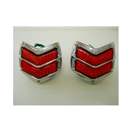 (2) 1940 Ford Car 20 LED Red Stop Turn Brake Tail Lights / Stainless Steel (1940 Ford Car)