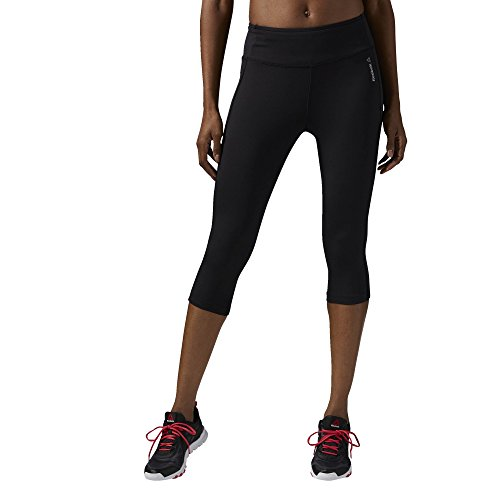 Reebok Womens Work Out Ready Pant Capri, black, Medium