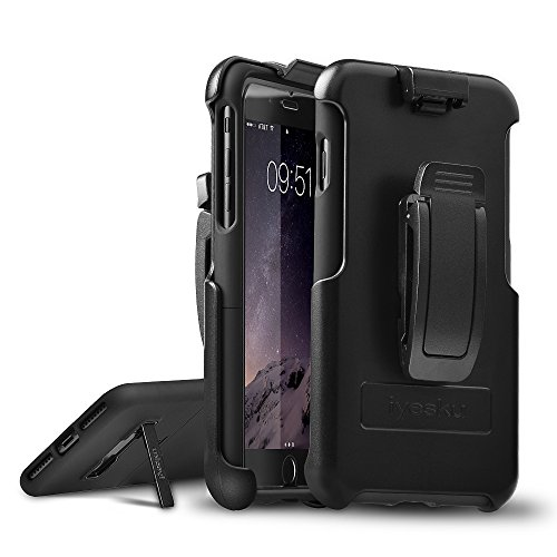 iPhone X Case, iyesku iPhone 10 case Heavy Duty Defender Protective Case COMBO Shell & Holster Case Shockproof with Belt Clip, Built-in Kickstand Full Protective for iPhone X only, Black