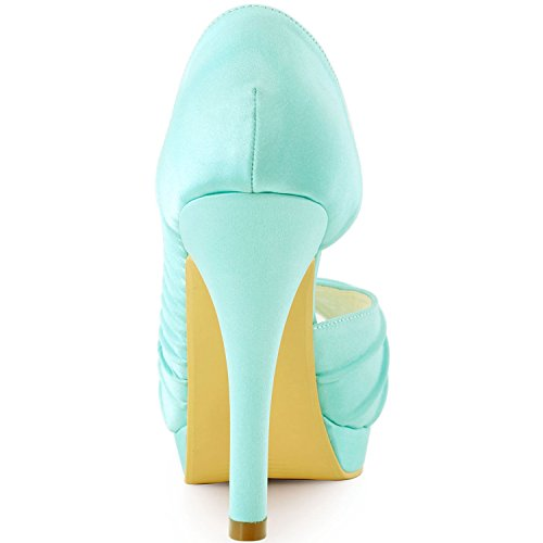 mariage turquoise femme tendance Heel de Turquoise 12cm Minitoo Chaussures wEpvzz