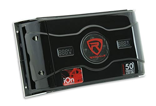 Rockville RXC50D 50 Farad 24V Surge Hybrid Ion Capacitor Voltage & Amerage Meter by Rockville (Image #5)