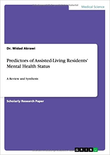 Predictors Of Assisted Living Residents Mental Health Status Dr