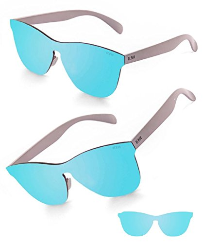 Ocean Sunglasses - Wayfarer Mirrored Flat Lens Sun Glasses - Stylish And Versatile Design Looks Good On All Face Shapes - Scratchproof With 100% UV Protection - Unisex Florencia For - Face Shapes All