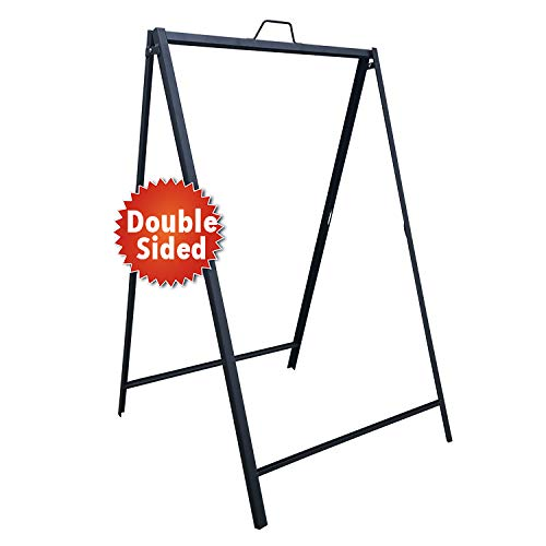 Advertisement Metal (Heavy Duty Metal A Frame Sidewalk Sign for Outdoor/Indoor Advertisement Use - for 24