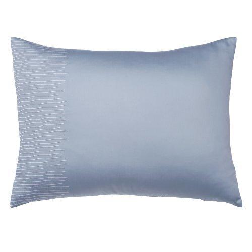 Portico 20 by 36-Inch Windswept Sham, King, Quarry Blue (Tonal Stitch)