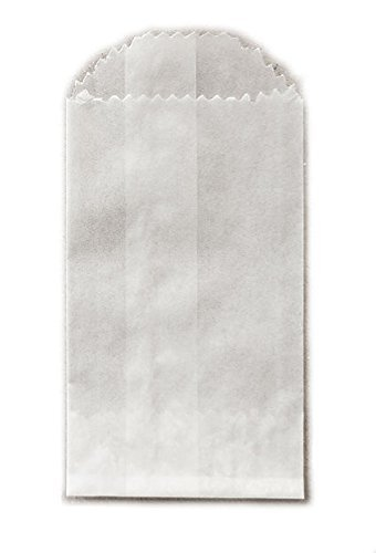 Bags Glassine Favor (Uline Mini Glassine Wax Paper Bags - 2 x 3 1/2 - 100 Bags)