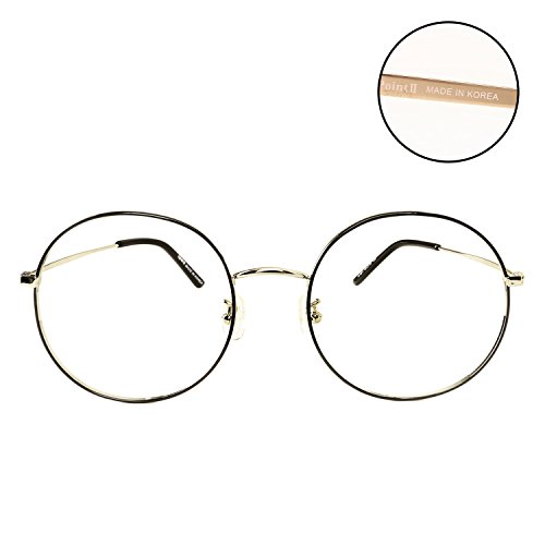 Luvoirgroup | Premium Classic Fashion Glasses Round Frame Black Circle Framed Clear Lens Eye Glasses | Beautiful for your fashion items. Made in - Clear Men Glasses Framed