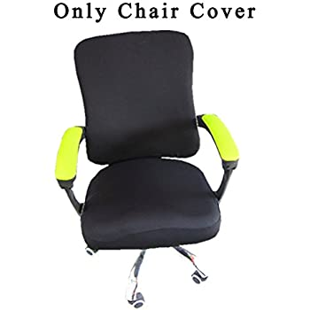 Loghot Spandex Polyester Chair Covers For Computer Office, Stretch Rotating  Split Chair Cover Fit Most Chair (Black)