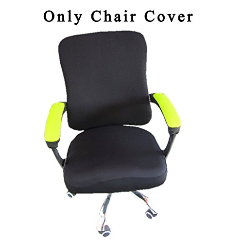 - Loghot Spandex Polyester Chair Covers for Computer Office, Stretch Rotating Split Chair Cover Fit Most Chair (Black)