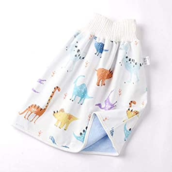 2 In 1 Comfy Childrens Diaper Skirt Shorts Anti Bed-wetting Washable Cotton Bamboo Fiber Waterproof Bed Clothes For Baby Boy Girl Night Time Sleeping Potty Training 0~8T