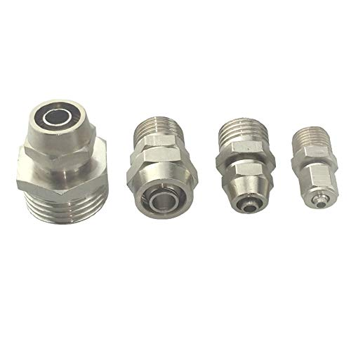 Maslin Brass Nickel Plated Air Pneumatic quick Male Connector 4 6 8 10 12 mm Tube Tube OD X M5 1/8