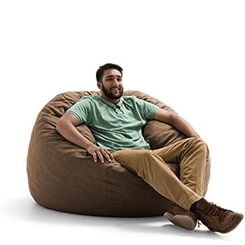 Big Joe Lux King Fuf Foam Filled Bean Bag Chair Union Pecan