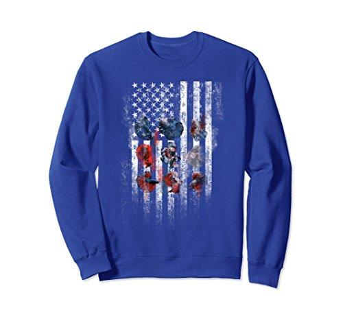 Gif Fish - Unisex Fighting fish American Flag Fishing Dad Funny Sweatshirt Gif Medium Royal Blue