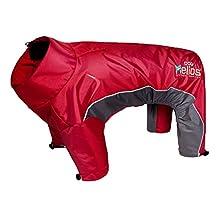 Dog Helios Blizzard Full-Bodied Adjustable and 3M Reflective Pet Dog Jacket Coat with Blackshark Technology, Grenadine Red, Large
