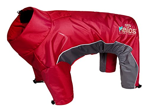 DOGHELIOS 'Blizzard' Full-Bodied Comfort-Fitted Adjustable and 3M Reflective Winter Insulated Pet Dog Coat Jacket w/ Blackshark Technology, Medium, Cola Red by DogHelios
