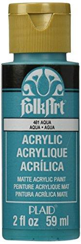 FolkArt Acrylic Paint in Assorted Colors (2 oz), 2580, Aqua