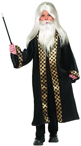 Forum Novelties Child's Wizard Wig, Moustache, & Beard Costume, White (Wizard Boy Costume)
